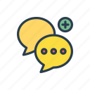 bubble, chat, conversation, discussion, messages icon