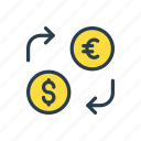 currency, dollar, exchange, money, transfer icon