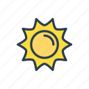 climate, forecast, shine, sun, weather icon