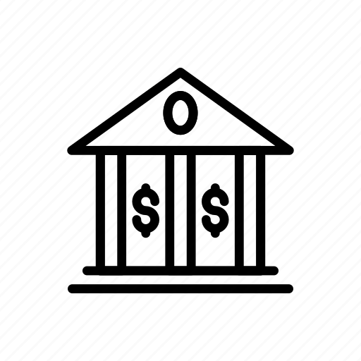 bank, building, finance, money, saving icon