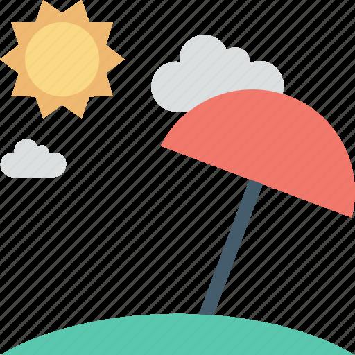 beach, holiday, summer, sun, umbrella icon