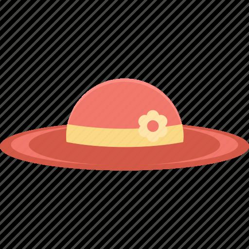 beach hat, hat, headgear, headwear, summer wear icon