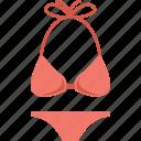 bikini, bra, penty, swimsuit, swimwear icon
