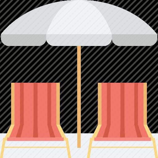 beach chairs, deck chair, sun tanning, sunbathe, tanning icon
