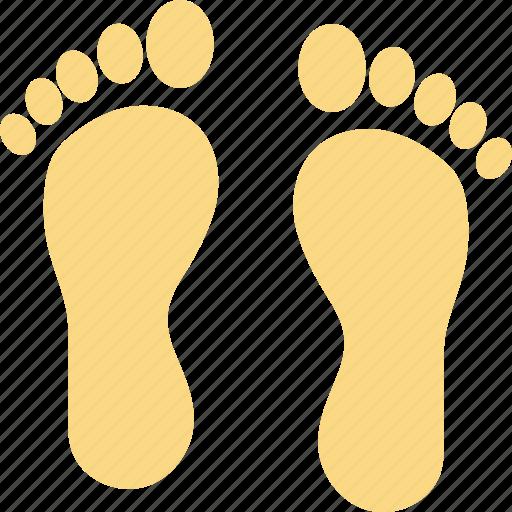 footfalls, footmarks, footprints, footsteps, human footprints icon