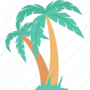 beach, coconut trees, date trees, palm, palm trees icon