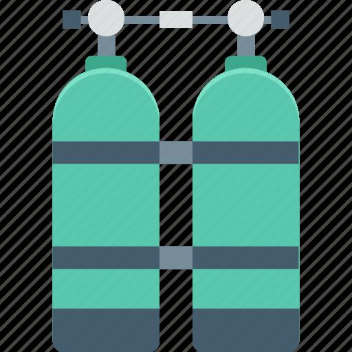 nitrous oxide, oxygen cylinders, oxygen tank, scuba, snorkeling icon