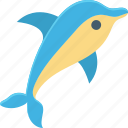 animal, dolphin, fish, mammal, sea life icon