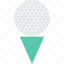 golf, golf ball, golf tee, leisure, play icon