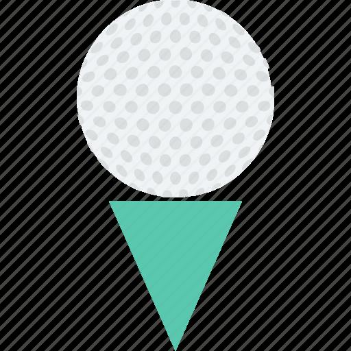 golf, golf ball, golf tee, leisure, play icon