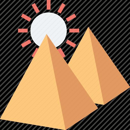 egypt, giza, great pyramids, pyramids, sunlight icon