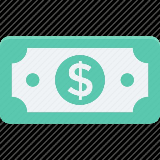 dollar, finance, income, money, paper money icon