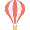air balloon, air travel, hot air balloon, parachute balloon, skydiving icon