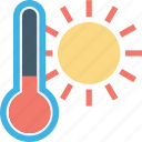 climate, temperature, temperature scale, thermometer, weather icon