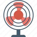 electric fan, fan, pedestal fan, table fan, ventilator icon