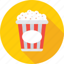 cinema, food, kettle corn, popcorn, snacks icon