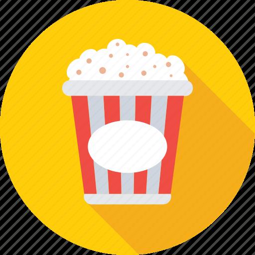 cinema, food, kettle corn, popcorn, snacks icon
