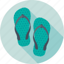 beach slippers, flip flops, footwear, pluggers, slippers icon