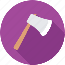 ax, axe, cutting tool, hand tool, work tool icon
