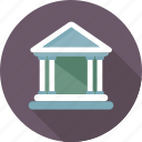 bank, building, columns building, court, museum icon
