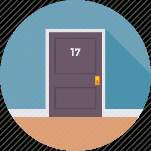 bedroom, door, entrance, hotel, room icon