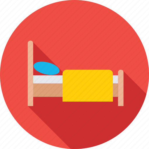bed, relax, rest, single bed, sleep icon