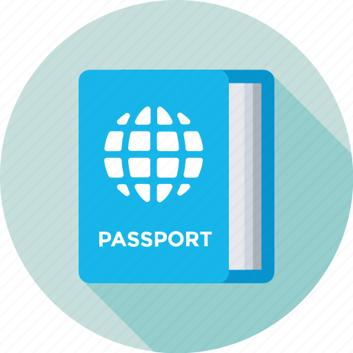passport, permit, travel, travel id, visa icon
