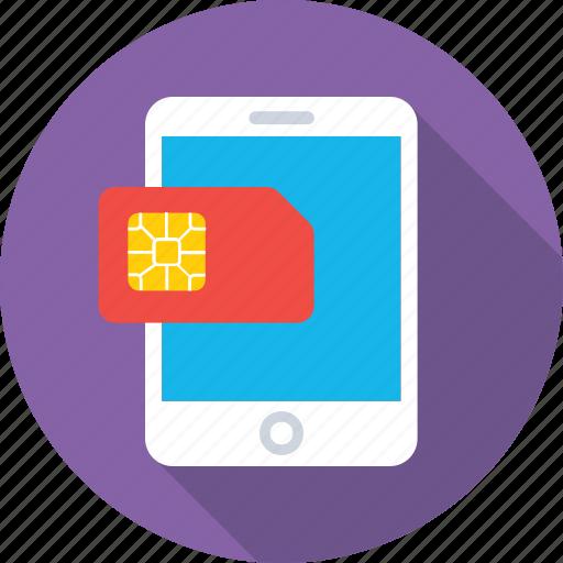 chip, mobile, mobile network, sim, smartphone icon
