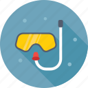dive mask, diving, scuba mask, snorkel, swim mask icon