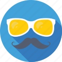 glasses, hipster, moustache, spectacles, sunglasses icon