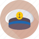 cap, captain, cruise, hat, navy icon