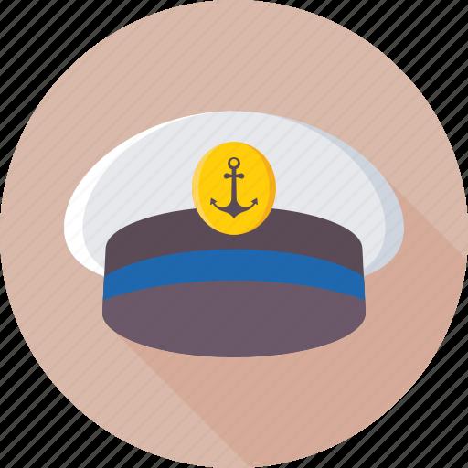 cap, captain, cruise, hat, navy icon