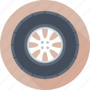 auto, automotive, car wheel, tire, wheel icon