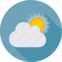 cloud, summer, sun, sunny day, sunrise, weather icon