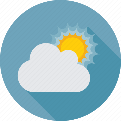 cloud, summer, sun, sunny day, sunrise, weather icon