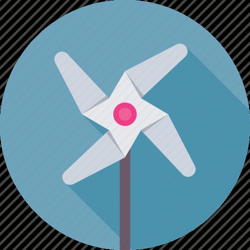 fun, pinwheel, toy, whirligig, windmill icon