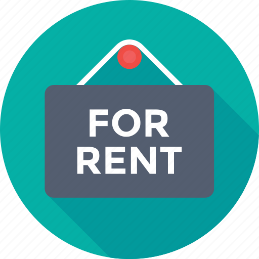 commercial, for rent, offer, rental, signboard icon