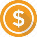 cash, coin, dollar, finance, money icon