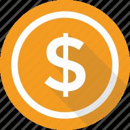cash, coin, dollar, finance, money icon