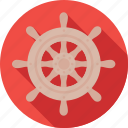 boat, boat steering, boat wheel, nautical, wheel icon
