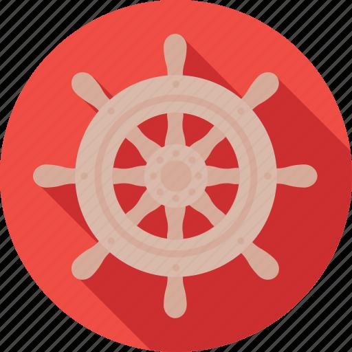 boat, boat steering, boat wheel, nautical, wheel icon