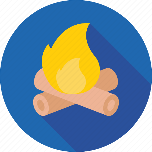 bonfire, campfire, camping, campsite, hiking icon