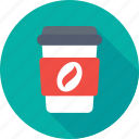 beverage, coffee, disposable, drink, take away icon