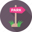 direction, garden, guidepost, park, signpost icon