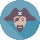 avatar, bandit, eyepatch, pirate, sea icon