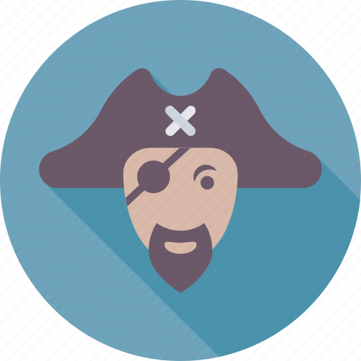 avatar, bandit, eyepatch, pirate, sea icon