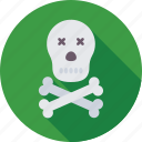 bones, danger, jolly roger, pirates, skulls icon