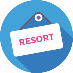 beach, hanging, hotel, resort, signboard icon