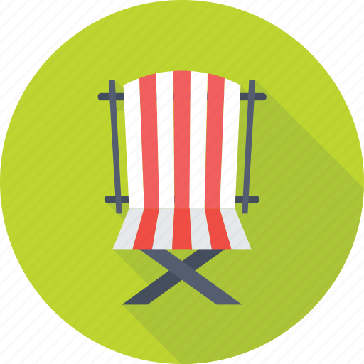 chair, deck chair, furniture, summer, tanning icon