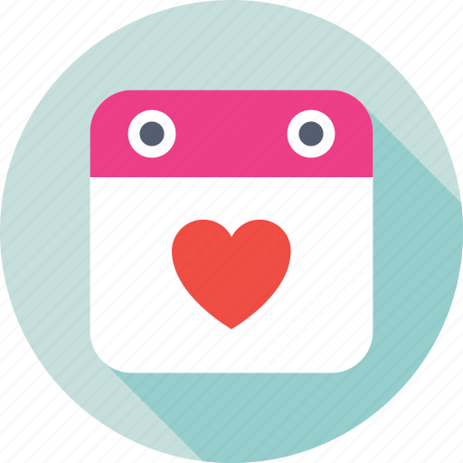 calendar, date, day, schedule, valentine day icon